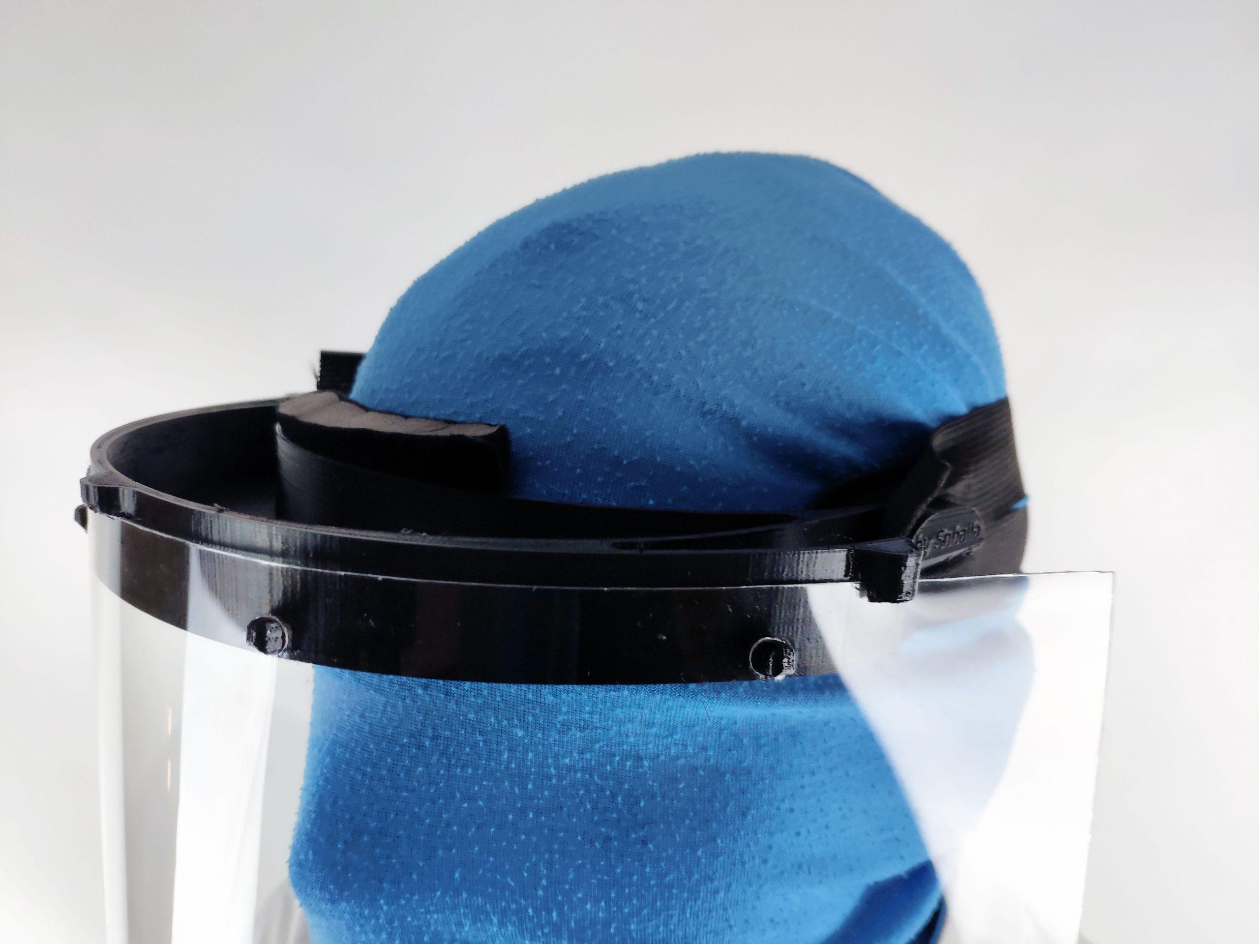 Schutzmaske Halterung